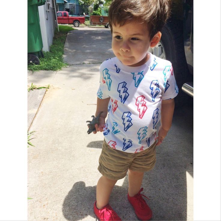 Toddler Boy Summer Outfit. Garanimals Shirt ON Shorts Vans. | ChristopherLanden | Pinterest