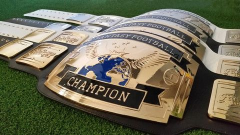 Fantasy Football Championship Belt - FantasyJocks: Fantasy Football Draft Board Kit | Baseball | Basketball