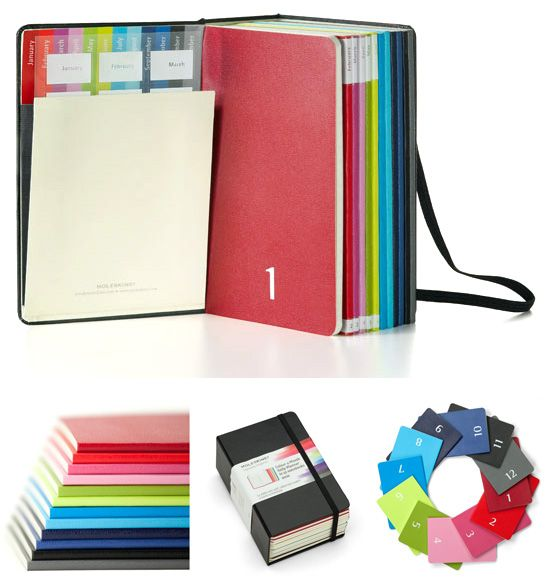 Moleskines Colour A Month Daily Planner Box Set. Swoon!
