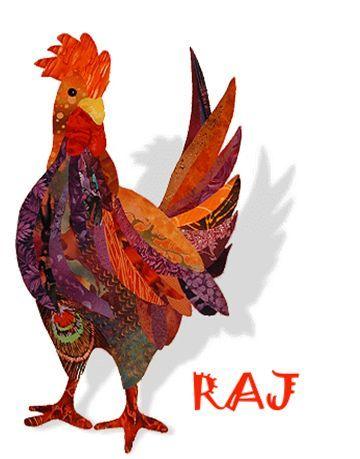 Chicken Applique Patterns | Raj Rooster Applique Quilt Pattern by Florine Johnson Designs So Handsome!!!