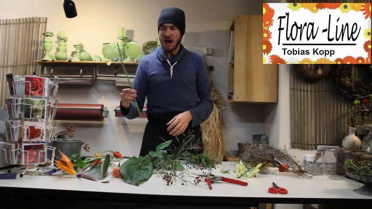 DIY 🍂 Exklusiver Formal Linearer Herbststrauss mit Strelizien🍁 - YouTube