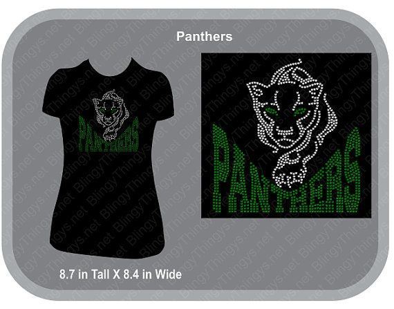 Panthers School Spirit In Your School Colors by BlingyThingysShop