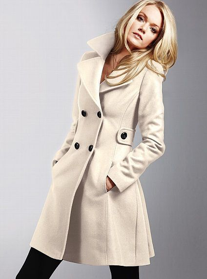 Winter White Wool Coat | Down Coat