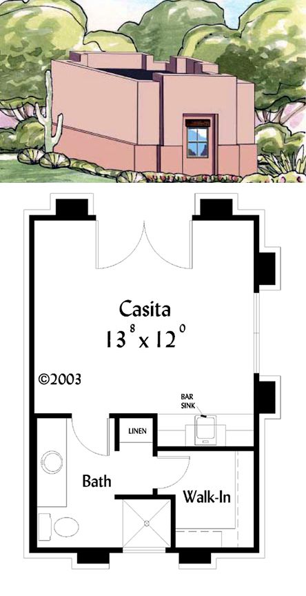 Southwest houseplan 71740 the mas murcia is simple and for Walk in closet square footage
