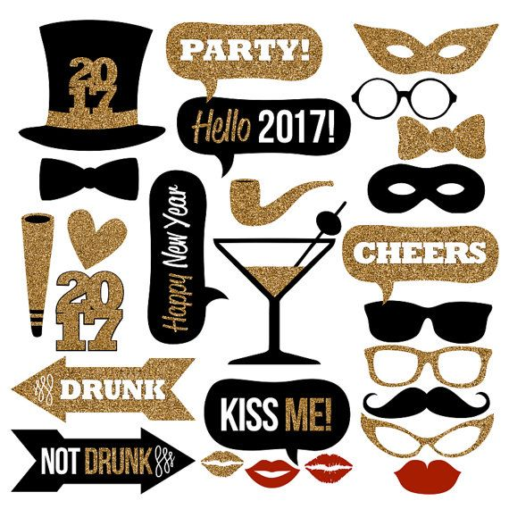 2017 New Year's Eve Photo Booth Props by Studio120Underground