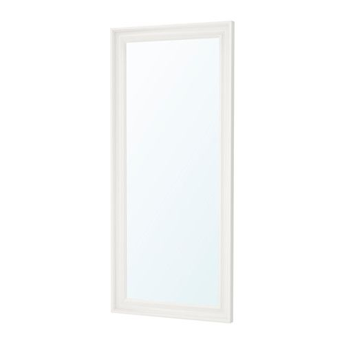 IKEA - HEMNES, Mirror, white, , Full-length mirror.Can be hung horizontally or vertically.Safety film reduces damage if glass is broken.Made of solid wood, which is a durable and warm natural material.
