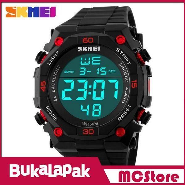 Beli MCStore Jam Tangan Pria SKMEI S-Shock Sport Watch Water Resistant 50m - DG11301 - Black/Red dari MCStore habibwaldani - Jakarta Barat hanya di Bukalapak