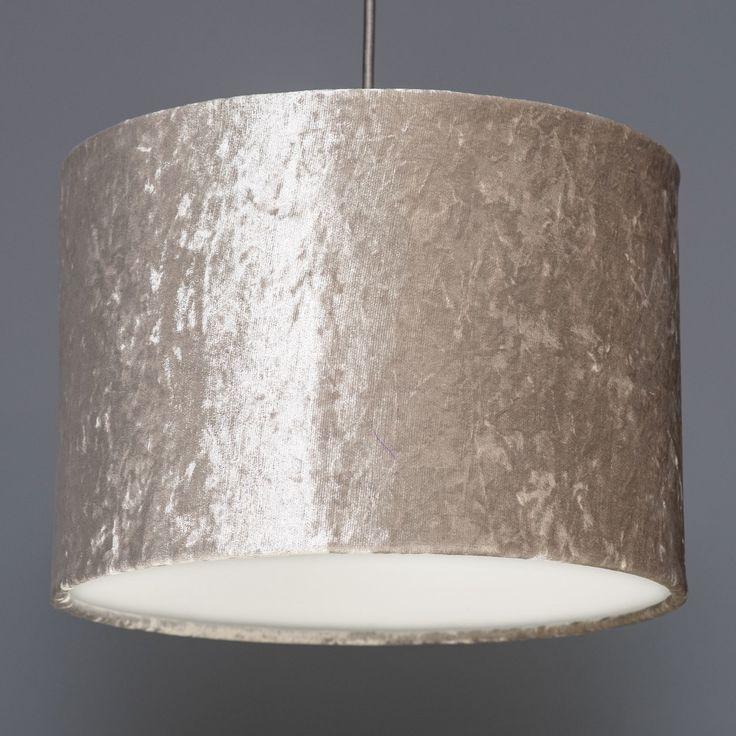 Quirk Ltd - Ivory Crushed Velvet Effect Drum Lampshade, £45.00 (http://www.quirkuk.com/ivory-crushed-velvet-effect-drum-lampshade/)