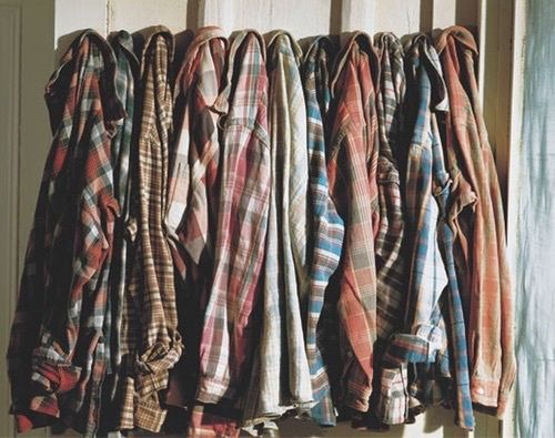 Lily has a collection of flannel that she's filched from her brothers wardrobes and wears constantly.