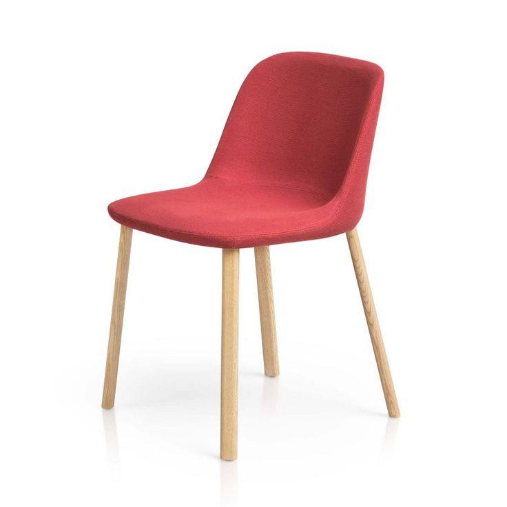 Esse Stuhl, Polsterstuhl mit Holzbeinen