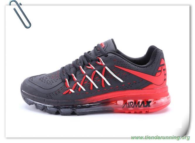 Negro/Rojo Nike Air Max 2015 628902-203 oferta zapatillas running