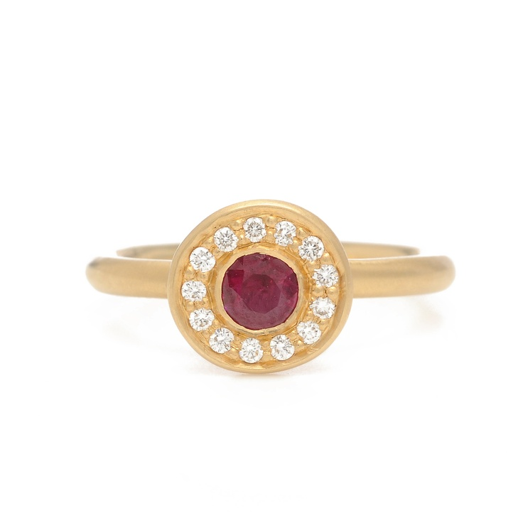 Anne Sportun ruby sweetheart ring...if only I had $2,178.00 right now.