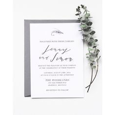 Fly fishing inspired wedding invitation by Cast Calligraphy, Bozeman, Montana
