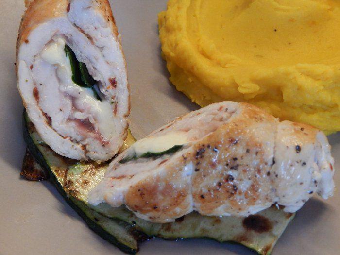 Kuřecí roláda s pancettou a sýrem scamorza
