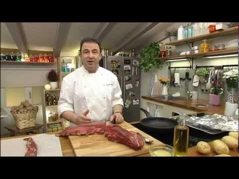 Martin Berasategui cocinando un solomillo de Fernández Terreros - YouTube