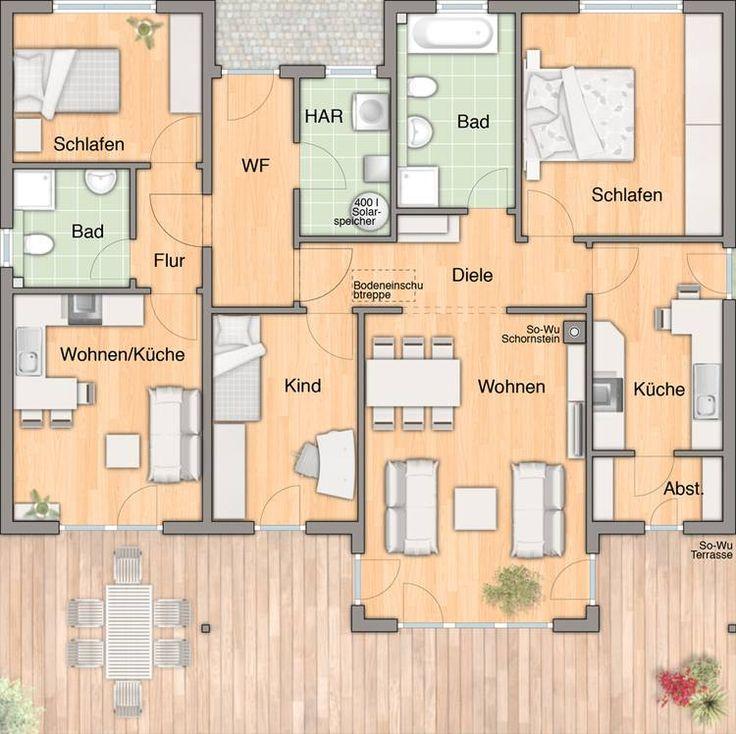 Wohnfl che Erdgeschoss mit Einliegerwohnung 128qm