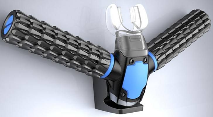 Say good by to scuba gear... this new device extracts oxygen from the water with artificial gils... A mazing!