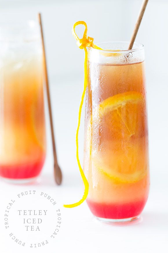 Wish we had one of these now!  Tropical Fruit Punch Iced Tea #recipe from @bakersroyale