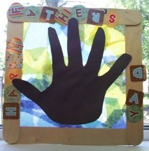 Father's Day Hand Print Sun Catcher Craft - Real Life at Home