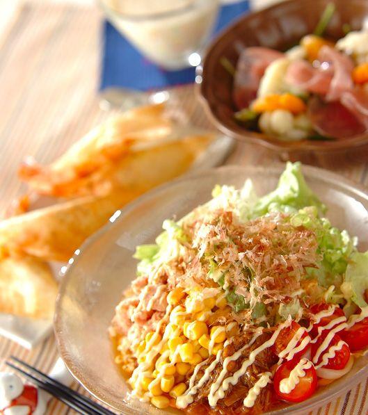 「簡単サラダうどん」の献立・レシピ - 【E・レシピ】料理のプロが作る簡単レシピ/2010.03.07公開の献立です。