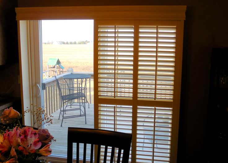 norman bypass shutter on a sliding glass door is a great option in