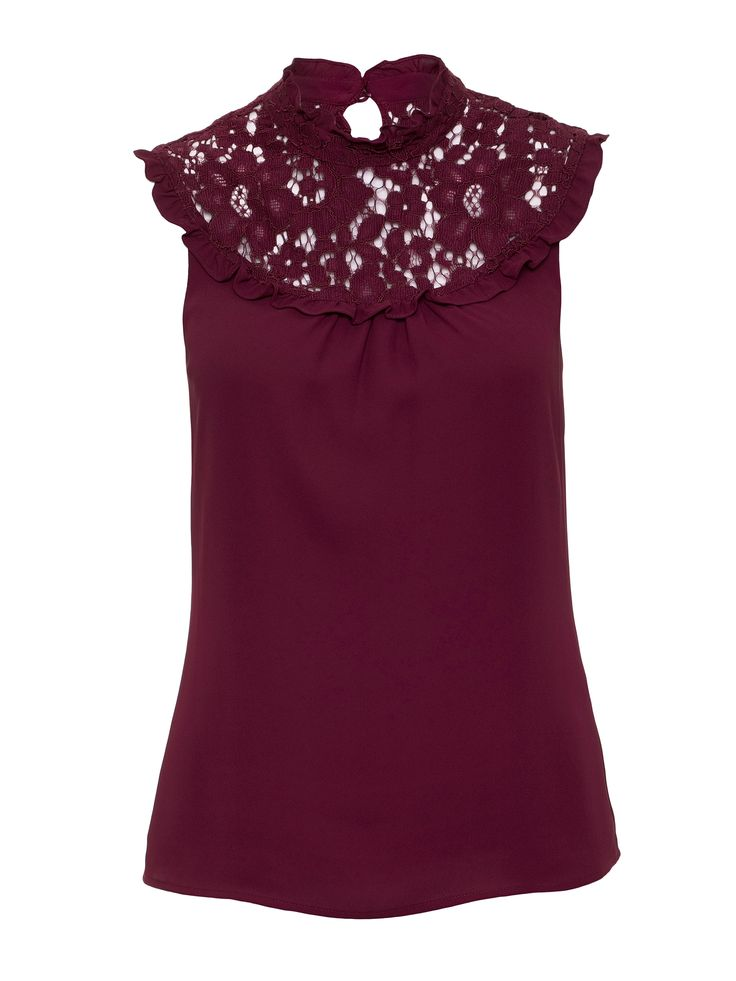 Libby Top   Wine   Blouses