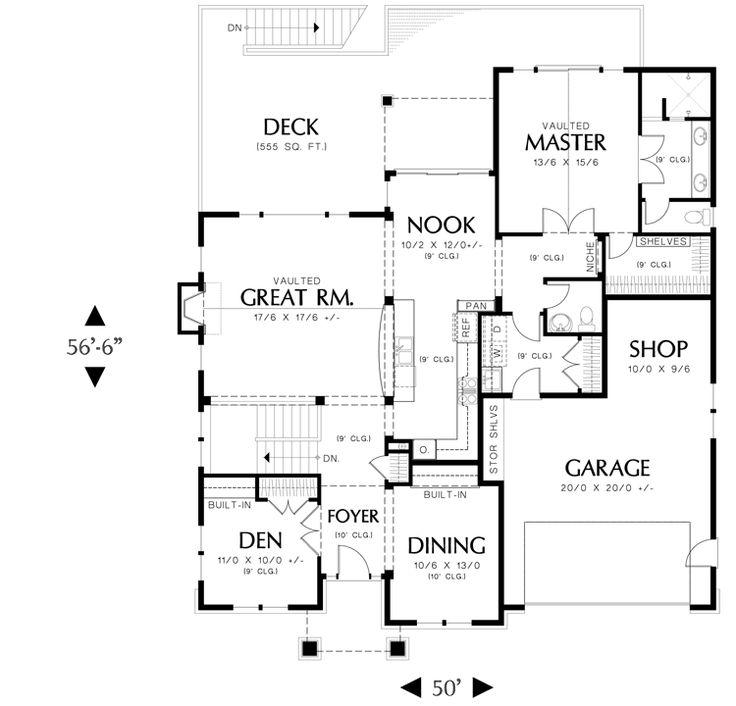 19 best don gardner house plans images on pinterest for Craftsman floor plans with basement