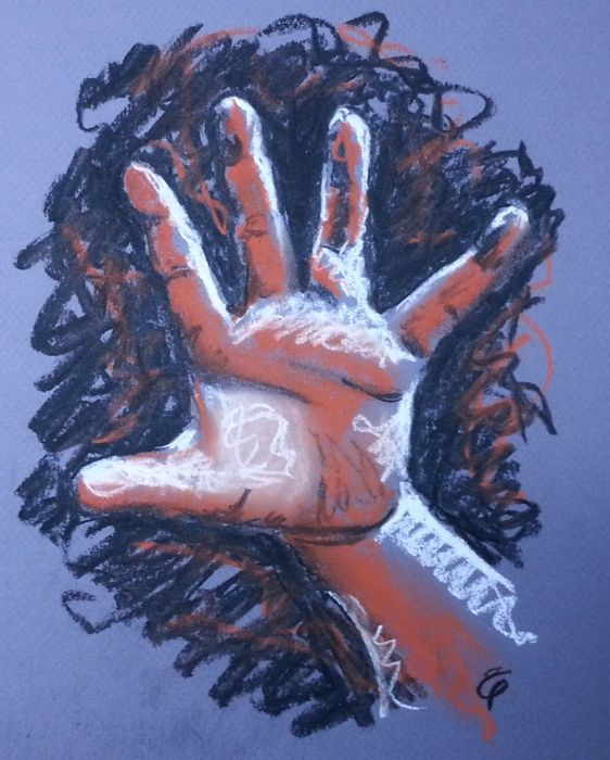 Hand number six by Liz Powley #100hands