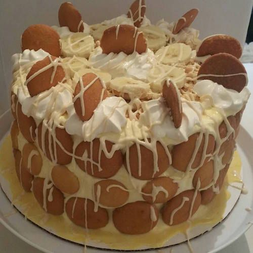 Paula Deen White Chocolate Banana Pudding Cake