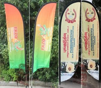 Customized Flags - Custom Flags designed by Outlet Tags Canopies Ltd - http://www.outlettags.com