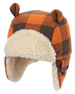 oh, my! so want this for my sweet boy this winter. too cute... plaid flannel earflap hat from gymboree