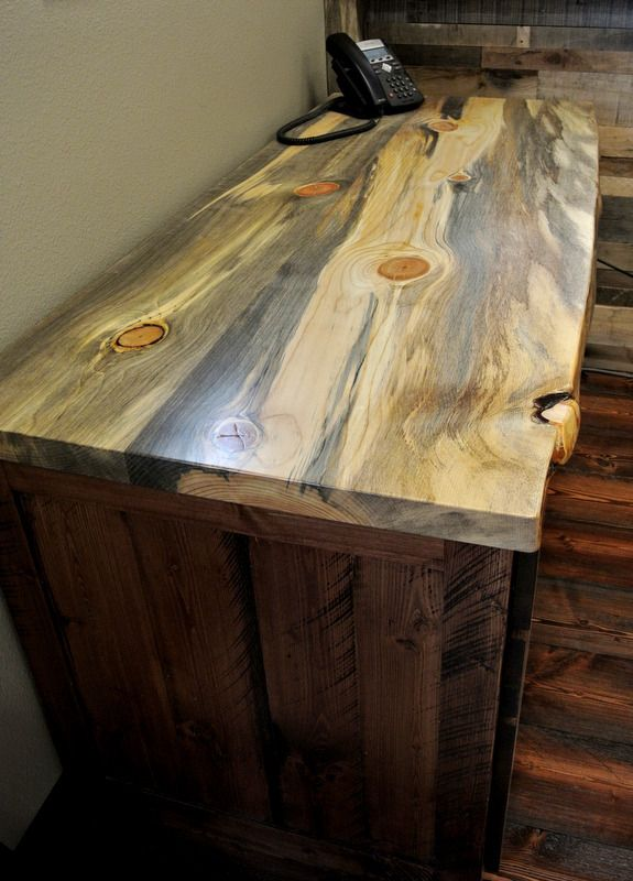 Beetle Kill Blue Stain Pine Desk Woodwork In 2018 Pinterest And Wood