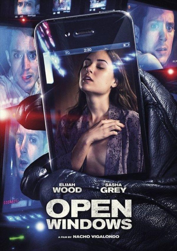 Open Windows movie poster - Elijah Woods and Sasha Grey