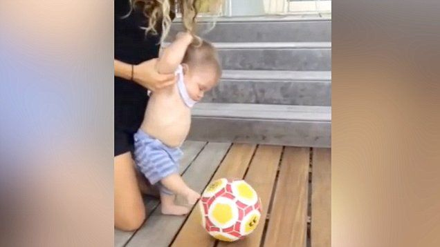 Shakira shared an Instagram video showing her son Sasha taking after his father and kicking a soccer ball at 6 months old.  Shakira is currently in a relationship with professional soccer player Gerard Pique.
