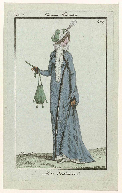 Journal des Dames et des Modes, Costume Parisien, 21 décembre 1799, An 8 (181) : Mise Ordinaire, Anonymous, 1799