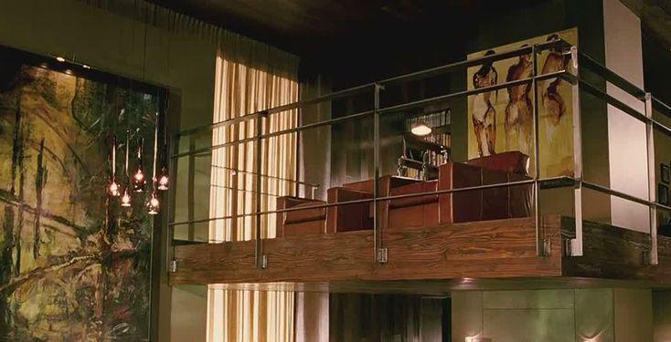 "Interior, Awesome House Design on ""When a Stranger Calls"" Movie: Mezzanine Interior Design"