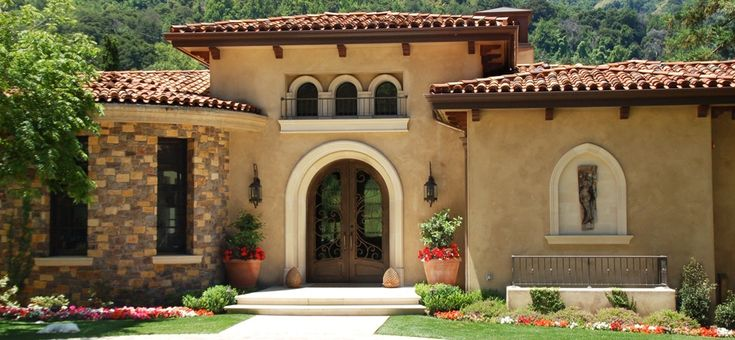 Tile roof exterior paint red tile roof for Santa barbara new homes