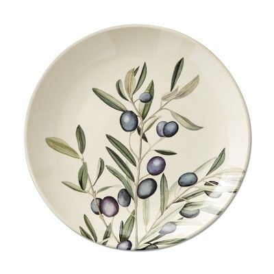 Napa Farmhouse Dinner Plates, Set of 4, Olive