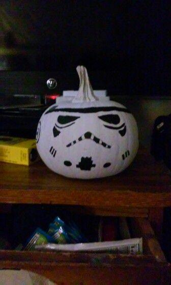 Stormtrooper pumpkin I did myself