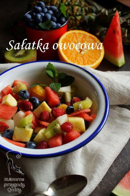 Kulinarne przygody Gatity: Letnia sałatka owocowa