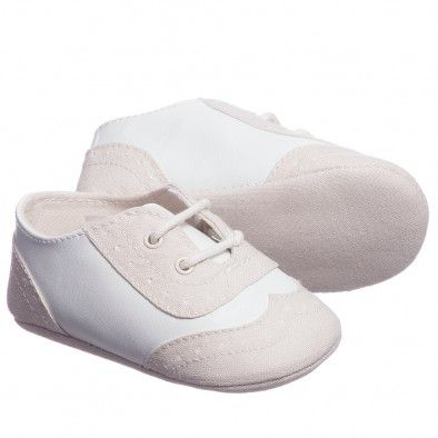 Mayoral Baby Boys Ivory and Beige Pre-Walker Shoes at Childrensalon.com
