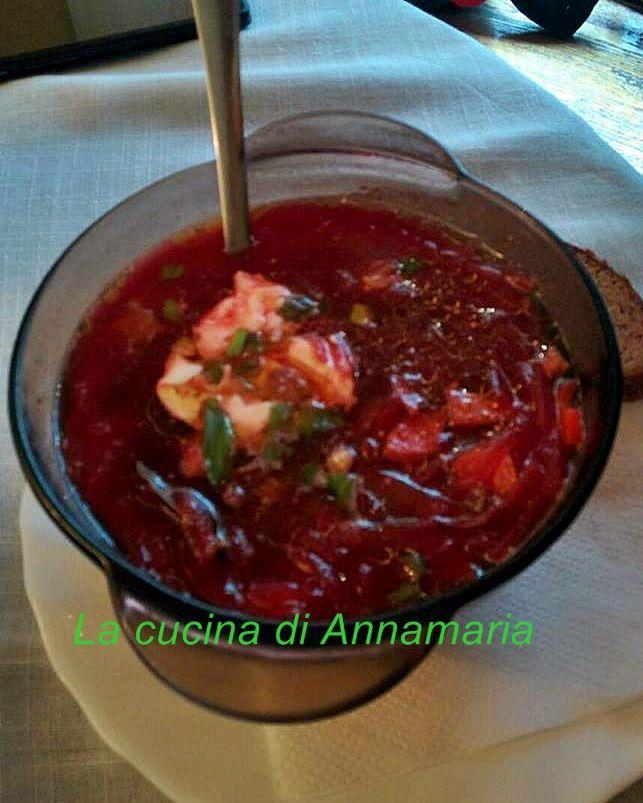 Borsch polacco (zuppa di barbabietole),un'ottima zuppa vegana