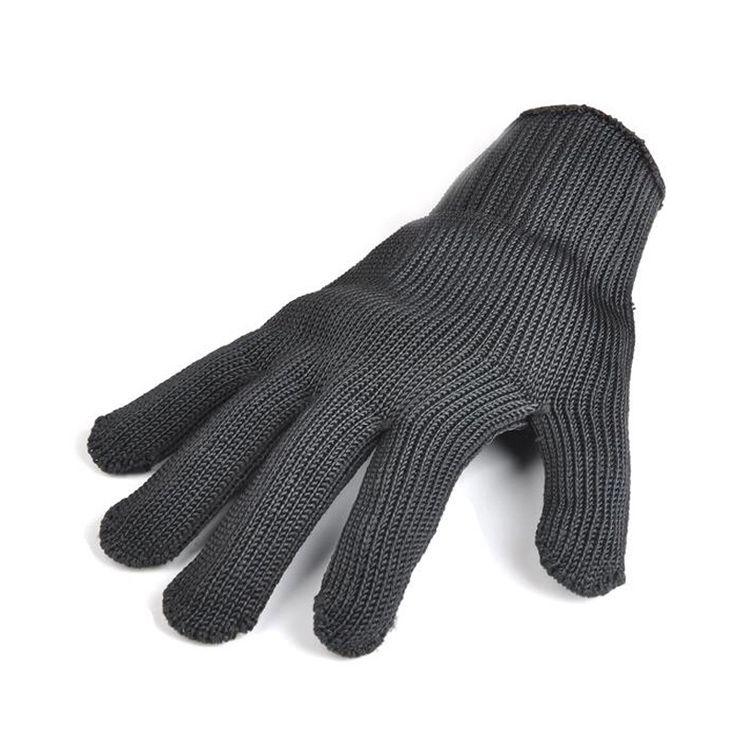 Sarung Tangan hitam stainless steel kawat resistace anti-pemotongan bernapas sarung tangan kerja sarung tangan Keselamatan anti-abrasi Gratis Pengiriman