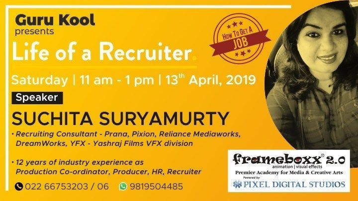 How To Get A Job Life Of A Recruiter Seminar By Suchita Suryamurty Job Seminar Marketing Jobs