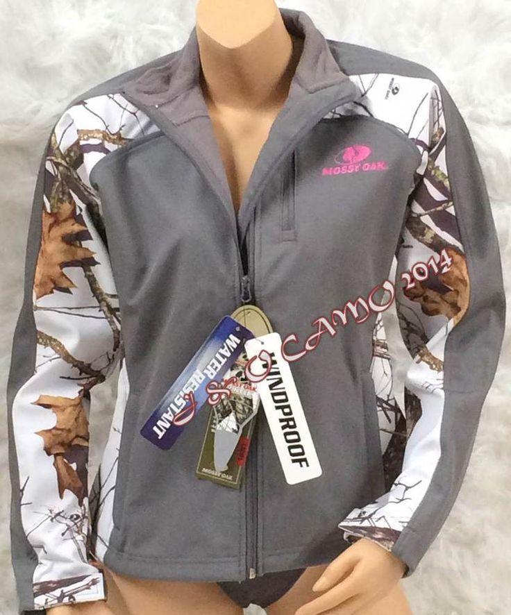 Womens Mossy Oak Camo Pink White Softshell Insulated Windproof Jacket S M L XL #MossyOak #BasicJacket