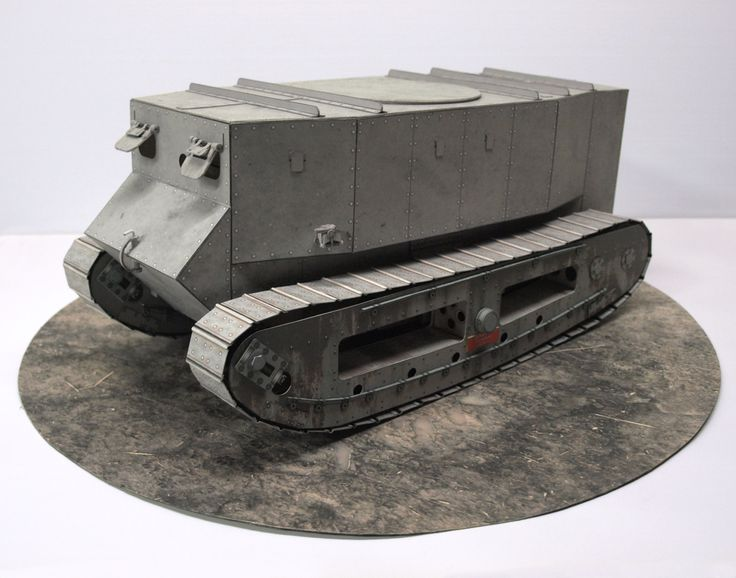 Little Willie World War 1 Tank 1/18 scale paper model - designed and built by Dave Winfield ...