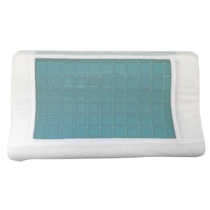 "Gel Memory Foam Contour Pillow (20"" x 12"" x 4"")"