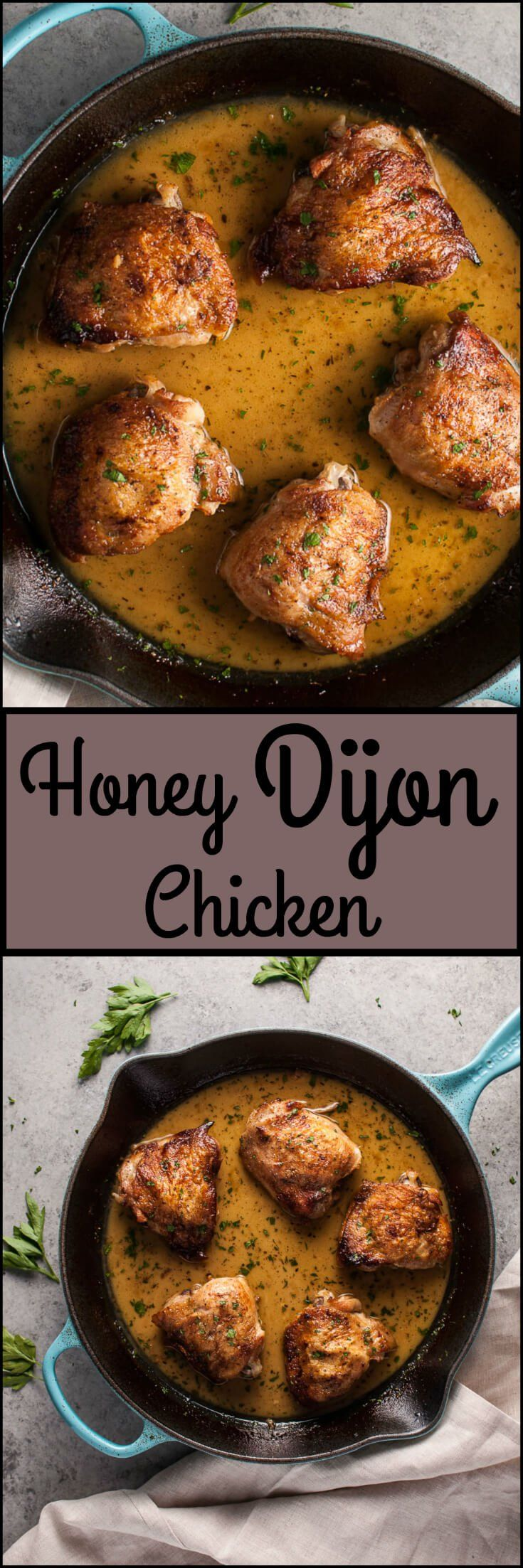 My crispy honey Dijon chicken is a grown-up twist on honey mustard, and it's absolutely delicious. Dijon mustard, white wine, and butter make it taste extra luxe.