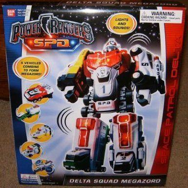 Amazon.com: Delta Squad Megazord SPD Electronic Power Rangers Action Figure: Toys & Games