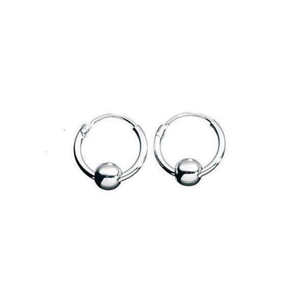 SILVER HOOP EARRINGS Approx 50mm diameter Sealed ends (stops Irritation) fXx8j
